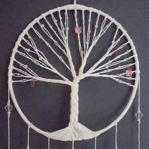 Tuto Attrape Reve Arbre De Vie : attrape r ves rose arbre de vie pink dreamcatcher bijou ~ Voncanada.com Idées de Décoration