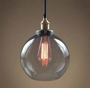 Glass globe pendan light modern kitchen pendant lighting