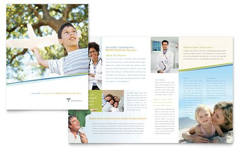 family physician brochure template word publisher