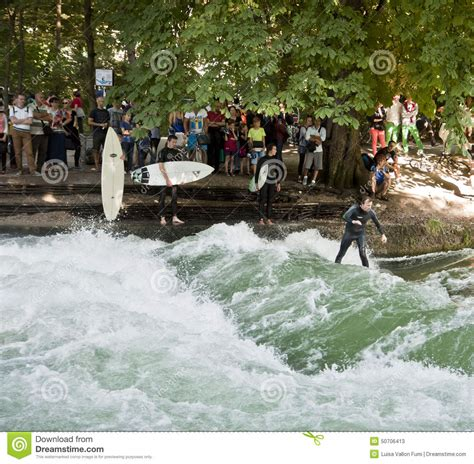 Englischer Garten Munich Surfing by Surfing In Munich Englischer Garten Editorial Stock Photo