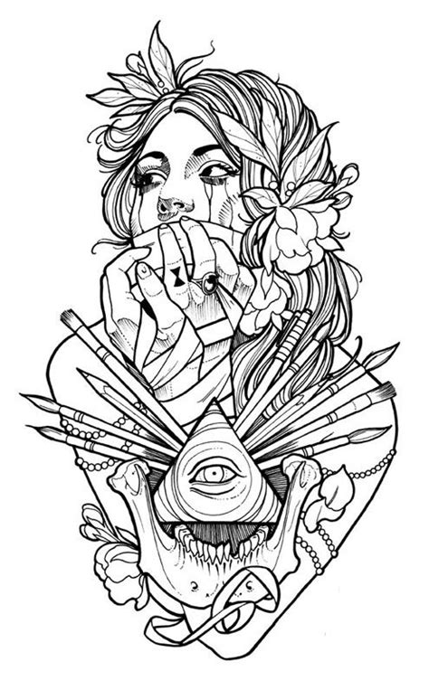 The Coloring Book Project, 2nd Edition Mike DeVries   Self Therapy   Tattoo coloring book