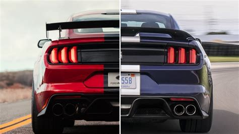 Gt500 Vs Gt350 by 2020 Ford Shelby Gt500 Vs 2019 Ford Shelby Gt350