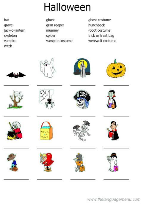 english  fun halloween quizvocabulary