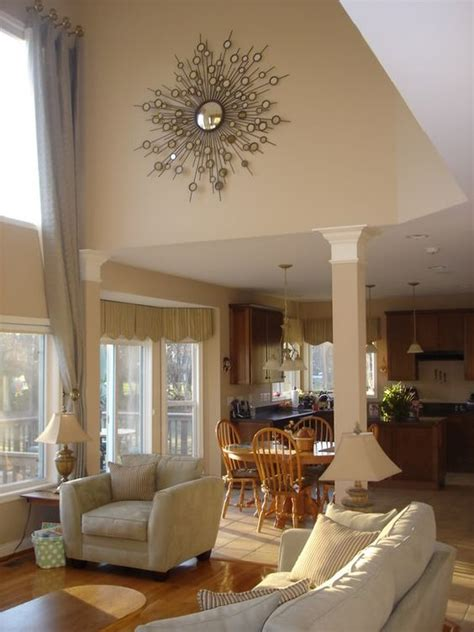 decorating a great room with high ceilings huge fireplace mantel decorating help needed high ceilings fireplaces and vaulted ceilings
