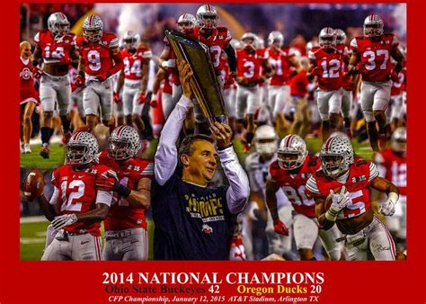 Ohio State Buckeyes OSU 3 Red NCAA Football National ...