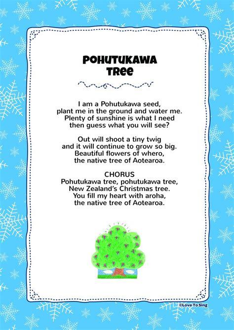 christmas tree songs for preschoolers pohutukawa tree song with free lyrics 8795
