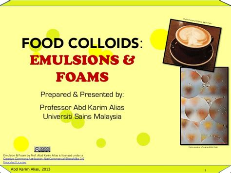 emulsion cuisine introduction to food emulsions and foams