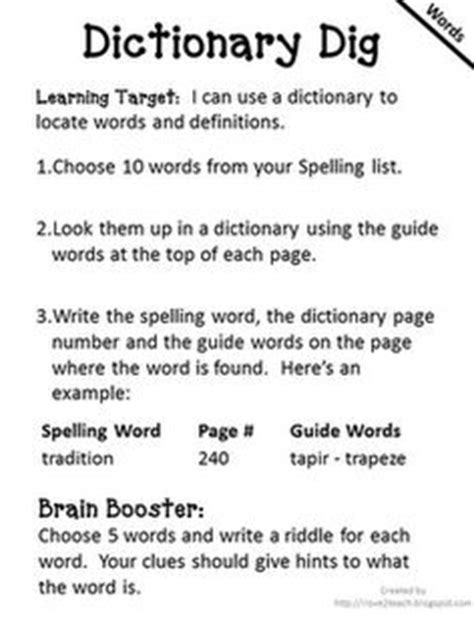 1000+ Images About Dictionary Skills On Pinterest  Dictionary Skills, Dictionary Activities And