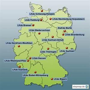 Standorte Der Bundeswehr : die landeskommandos der bundeswehr mit ihren standorten von jportugall landkarte f r ~ Watch28wear.com Haus und Dekorationen