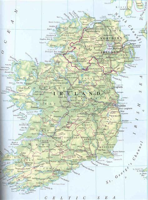 general map  ireland ireland general map vidianicom