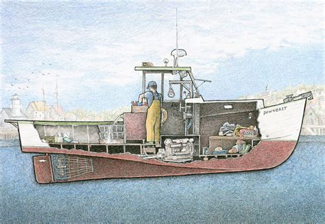 Lobster Boat Diy by Peek Below Ship Decks In Illustrations Inspired By My Time