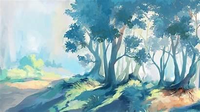 Fantasy Forest Artwork Desktop Wallpapers Backgrounds Cnc