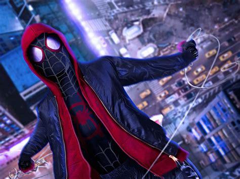 desktop wallpaper spider man   spider verse