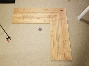 how to diy build l shaped office desk using 2x4s
