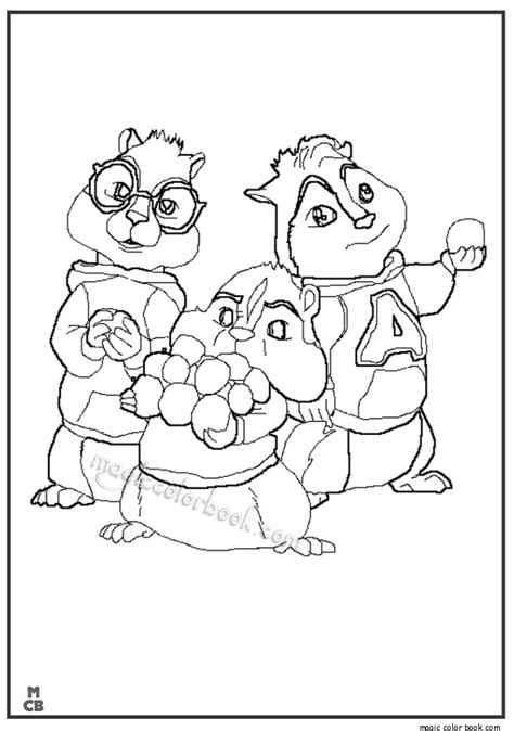 Alvin And The Chipmunk Coloring Pages Coloring Pages Alvin And The Chipmunks 2 Az Coloring Pages