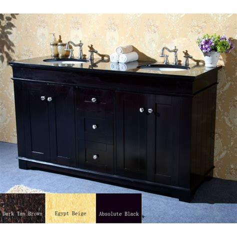 natural granite top   double sink bathroom vanity