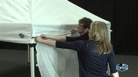 instant canopy side wall kit set  youtube