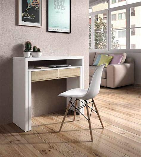 basika bureau bureau console blanc hetre