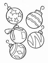 Balls Coloring Christmas Printable Pages Decoration Solitaire Template sketch template