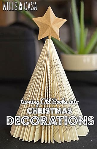 christmas crafts with used books killing books in the name of wills casawills casa