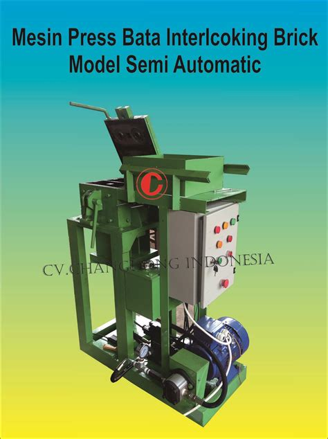 mesin press interlocking sell mesin press interlocking semi automatis from