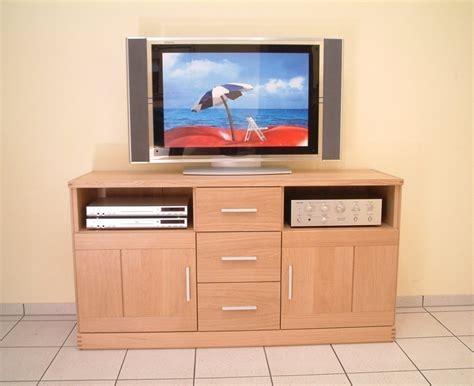 Tv Anrichte Kantatus 143 Für Flachbild Tv Und Hifi-geräte, Eiche Massiv, Moderner Stil Moderne