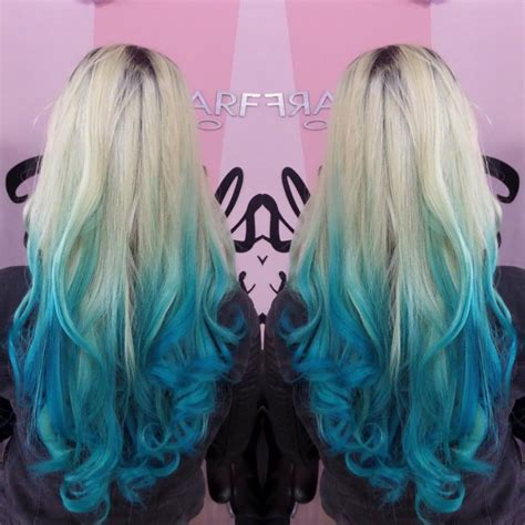 Blond Hair Blue by Blue Ombre Hair 14 Free Hair Color Pictures