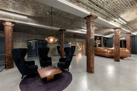 wingback chairs metropolitan wharf wingback chairs and void lights by