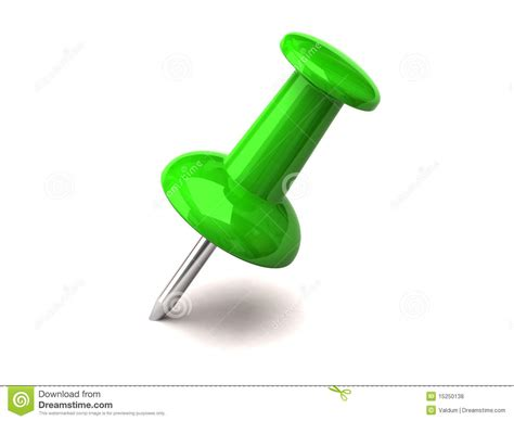 Green Thumbtack Stock Illustration. Illustration Of Button