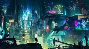 Cyberpunk City by artursadlos on DeviantArt