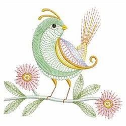 Rippled Neon Bird Embroidery Designs Machine Embroidery
