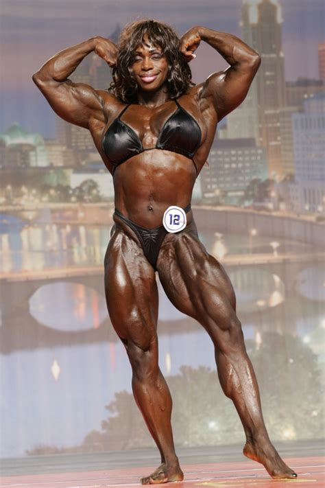 incredibly muscular female competitive bodybuilders