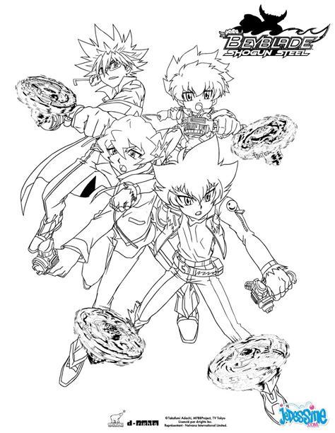dessins de coloriage beyblade shogun steel  imprimer