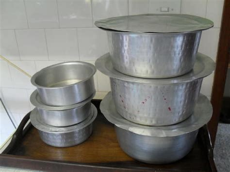 pots  set   indian curry aluminium cooking pots  sold     nov