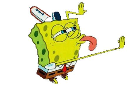 Spongebob Licking Meme - quot transparent spongebob lick meme quot by niennajane redbubble