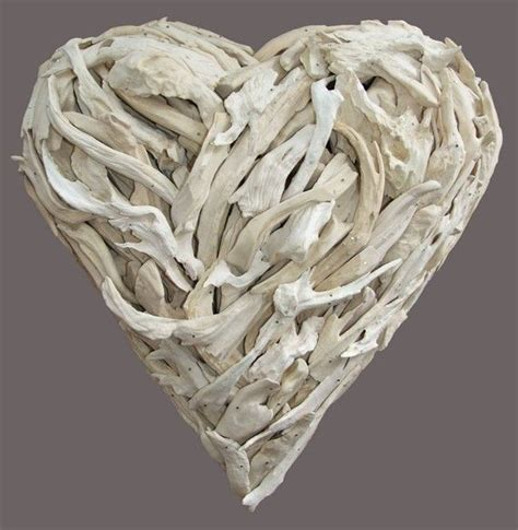 Spread the lovecreative driftwood decor ideas old drift woods are not exactly something that you blog post at beach decor : white driftwood heart, $520 | Lovers art, Driftwood, Art gift