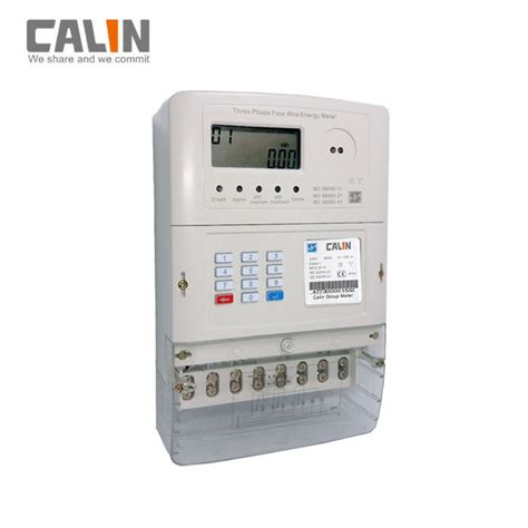 Lcd Display Sts Prepaid Phase Electric Meter With
