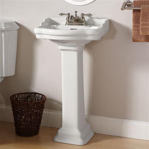 Pedestal Sink Bathroom by Stanford Mini Pedestal Sink The Bathroom In Our Tiny
