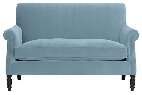 Traditional Settee by Suffolk Settee Traditional Loveseats By Crate Barrel