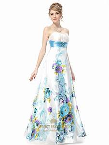 White strapless floral maxi dresswhite dress with green for Floral dresses for wedding
