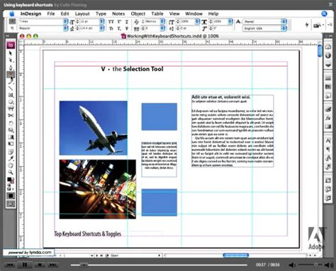 in design tutorial learn adobe indesign getting started tutorials and