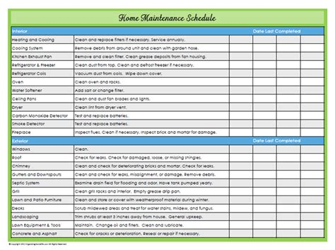 home repair checklist template 31 days of home management binder printables day 22 home maintenance schedule organizing