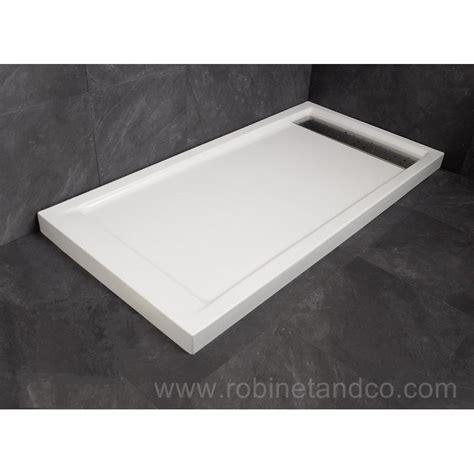 receveur acrylique 233 vacuation caniveau shadow robinet and co receveur de