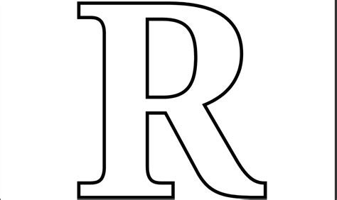 8 Best Images Of Letter R Template Printable