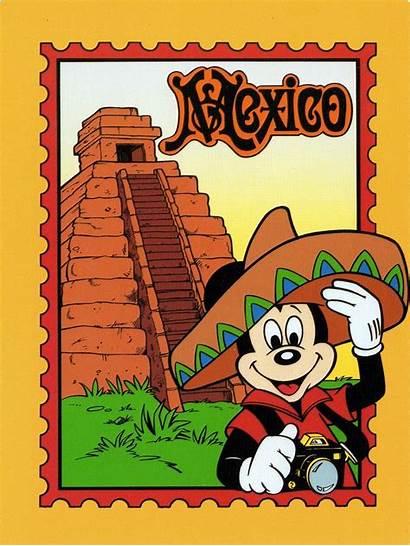Mickey Mexico Epcot Disney Mexican Postcard Mouse