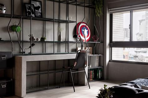 Fabulous Marvel Heroes Themed House With Cement Finish And Industrial Feel by Fabulous Marvel Heroes Themed House With Cement Finish And