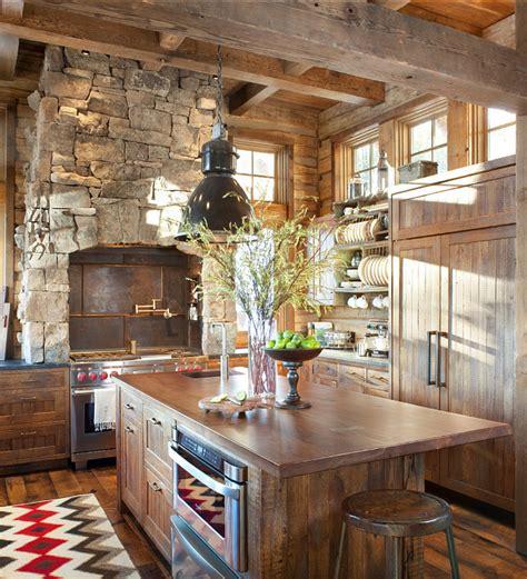 rustic cabin kitchen ideas rustic ski lodge home bunch interior design ideas