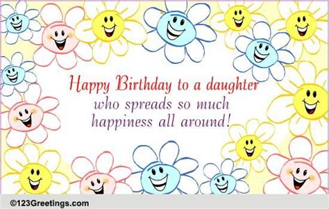 spreads happiness   son daughter ecards greeting cards
