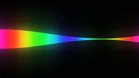 Abstract Rainbow Black Background by Rainbow Color Smoke Flowing Black Background