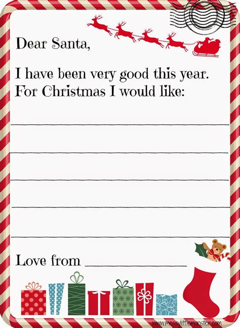 letter to child about santa i think i m as ready as i m santa letter 70020
